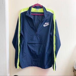 Nike men's windbreaker half zip jacket size XL